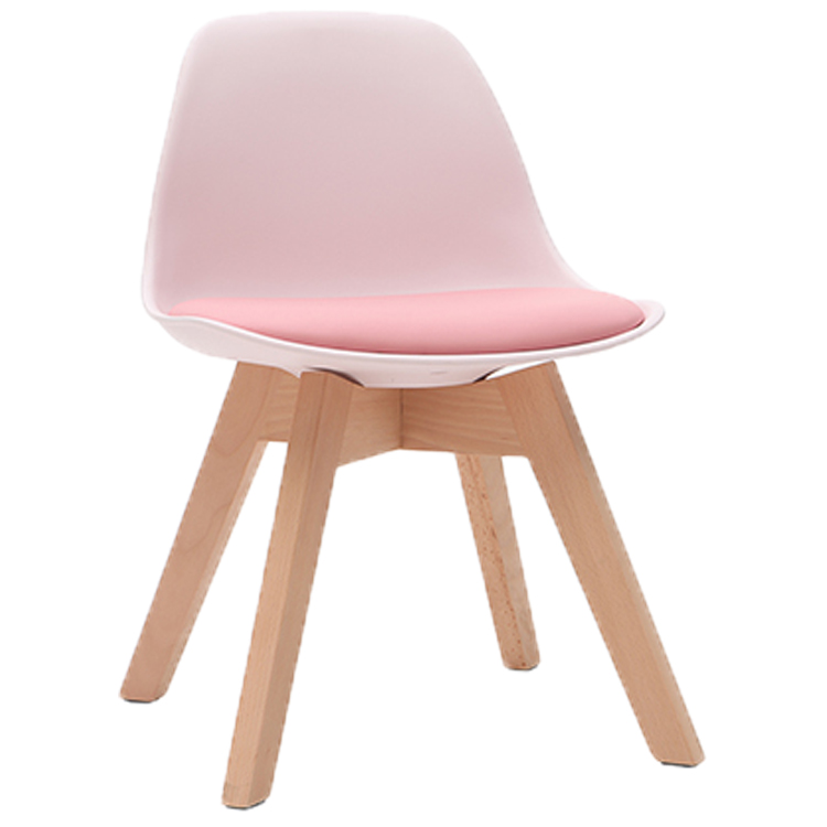 PINK DESIGN CHAIR WITH WOODEN FEET BABY PAULINE