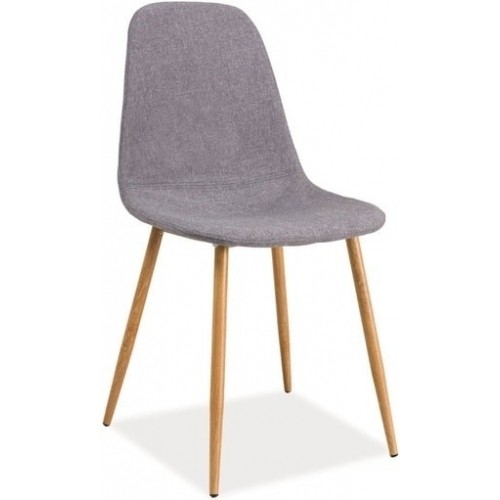 gray fabric side dining chair armless contemporary design