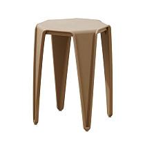 brown plastic stool chair rustic