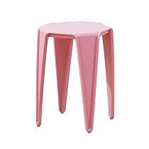 pink plastic stool chair rustic