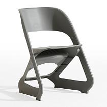 easy chair plastic high back gray modern