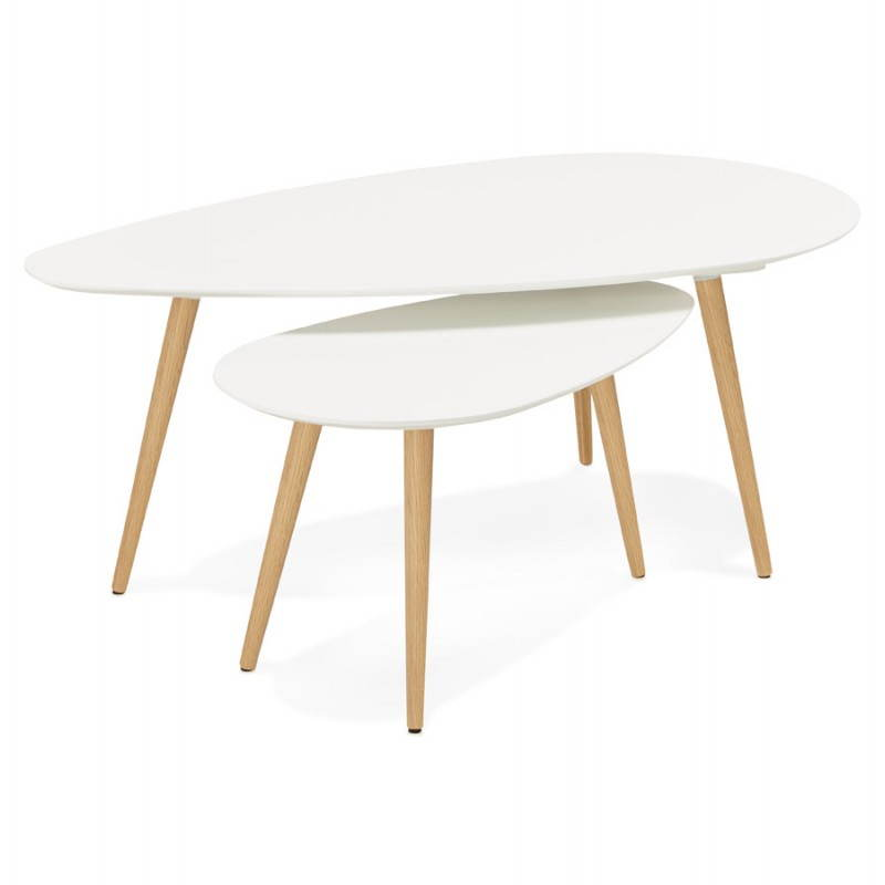 oval nesting tables scandinavian design white contemporary