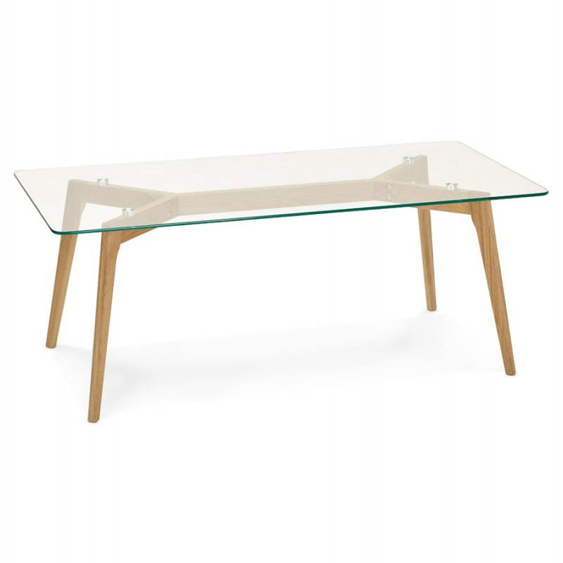 rectangular glass Coffee Table Scandinavian contemporary design