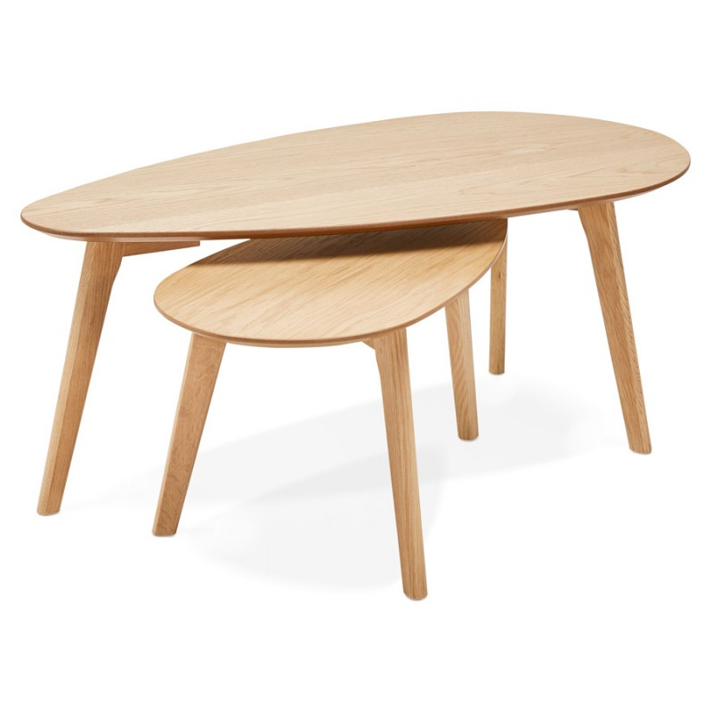 oval wooden design tables contemporary style