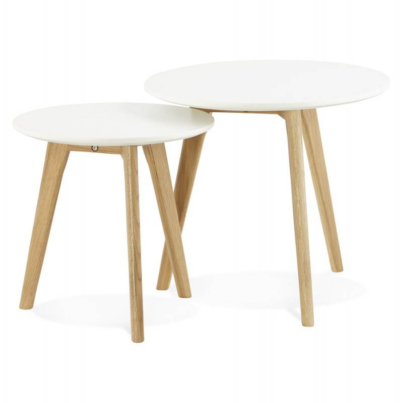 scandinavian design MDF wooden coffee table white solid wood legs