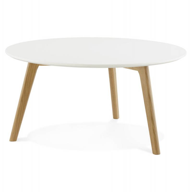 scandinavian design contemporary white round coffee table