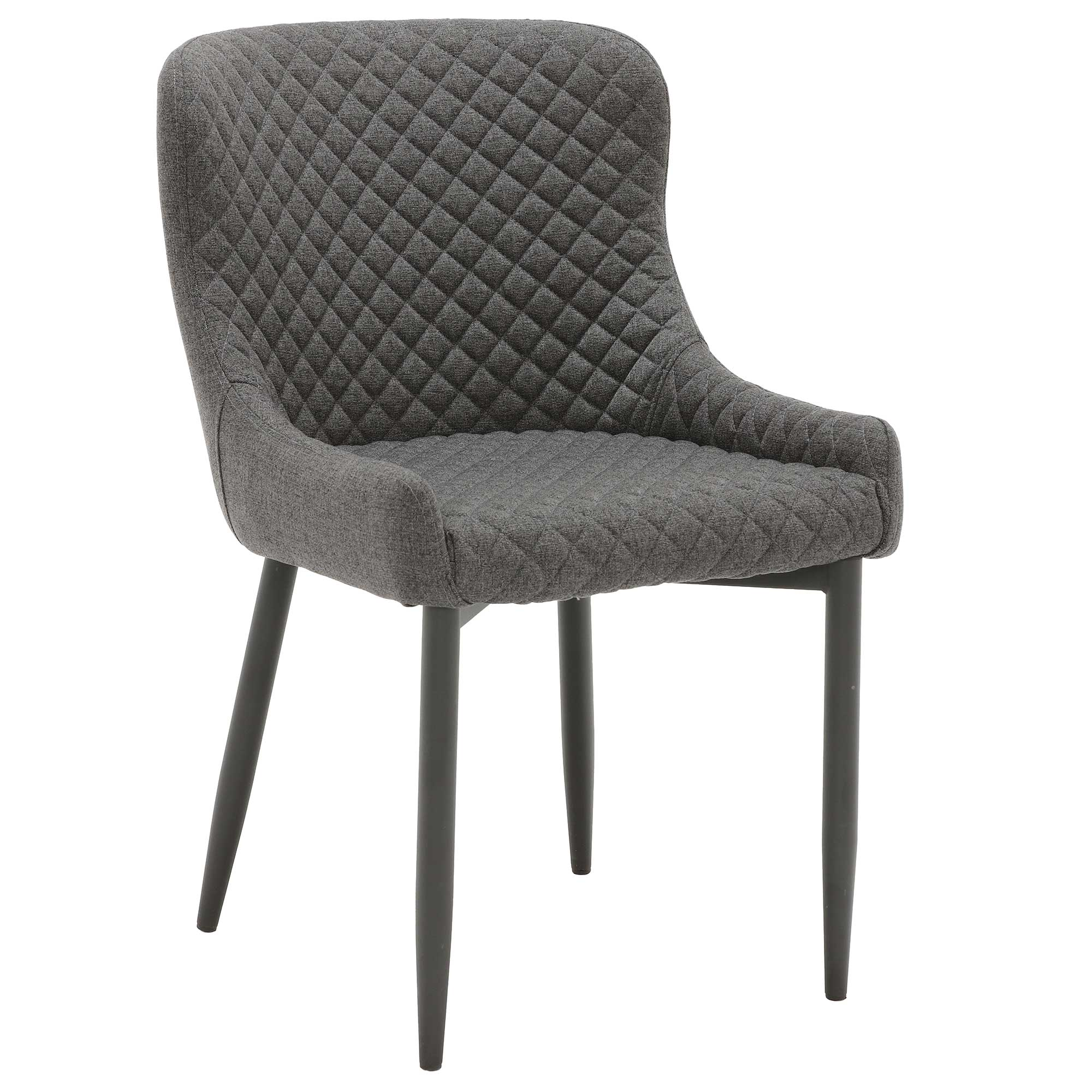 Dark Gray FABRIC DINING ARMCHAIR Comfy
