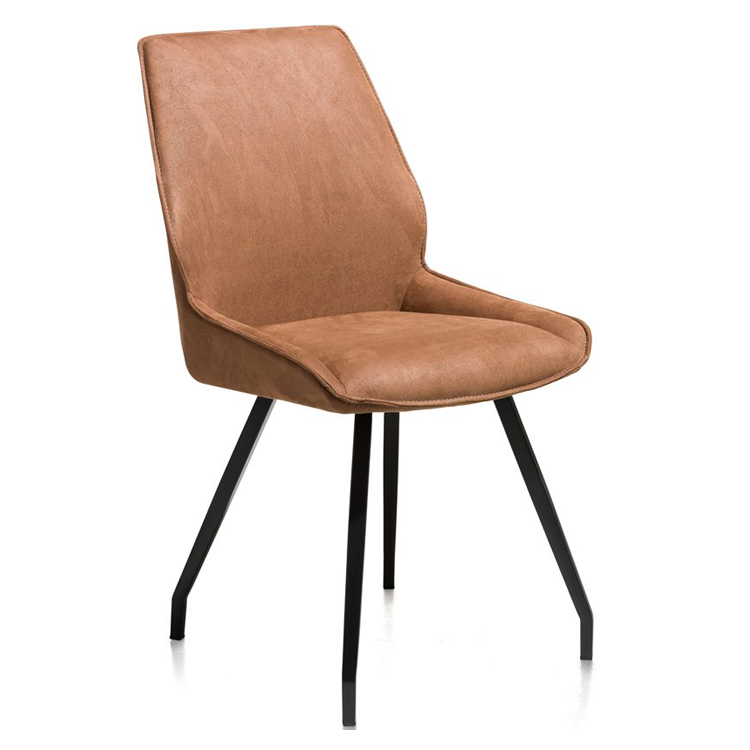 Upholstered dining chair COGNAC high back comfy design