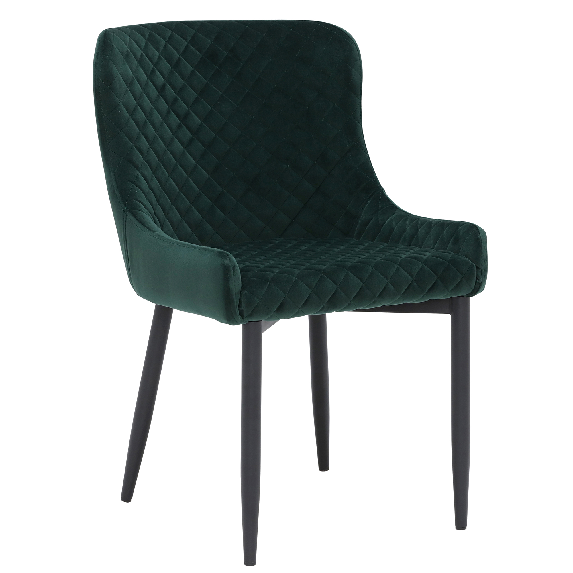 Dark Green FABRIC DINING ARMCHAIR Comfy