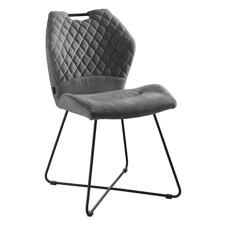 Dining chair dark gray fabric new design