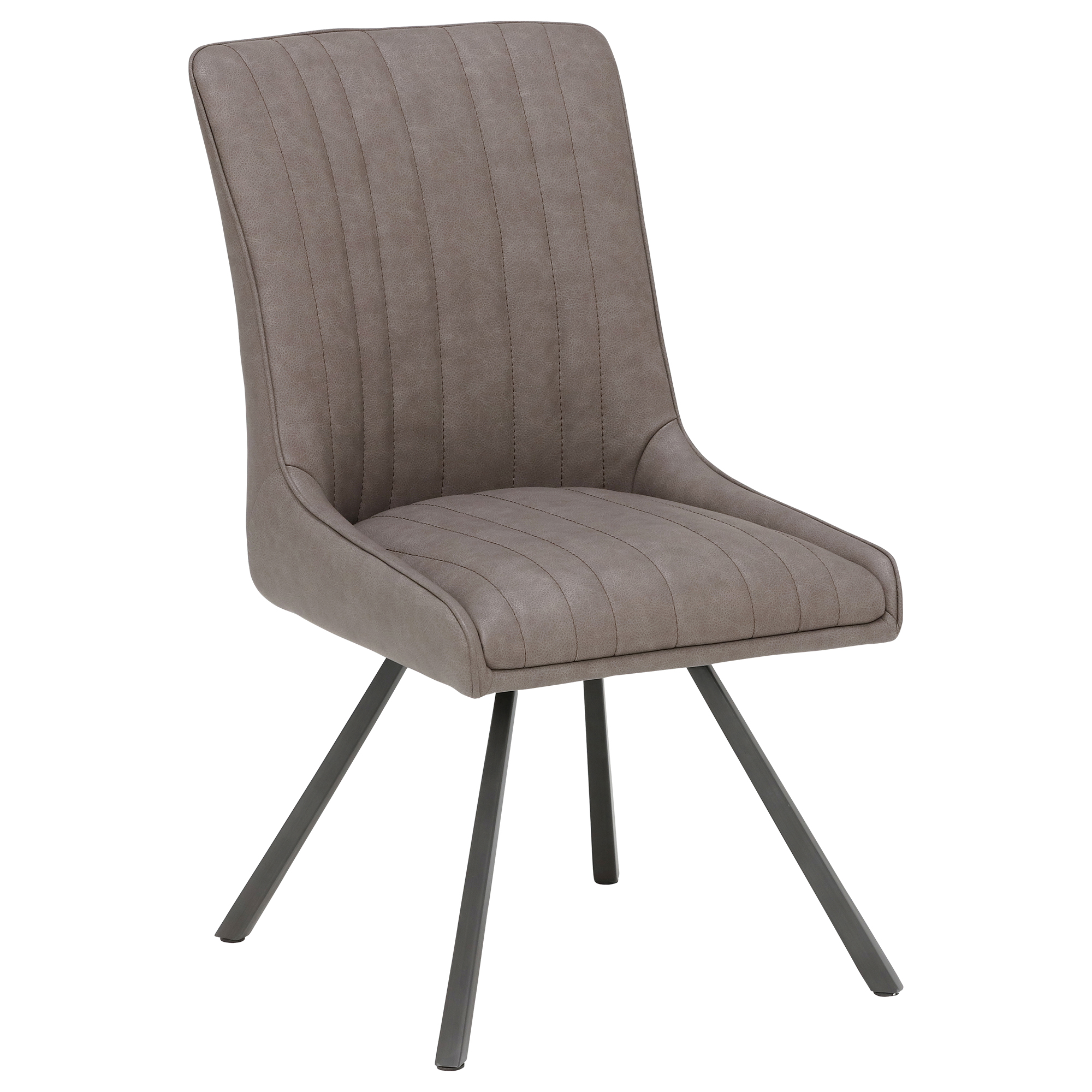 soft faux leather dining chair high back metal legs