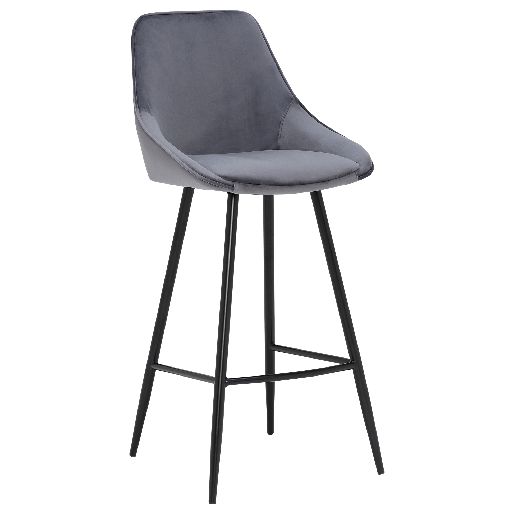 gray velvet kitchen breakfast bar stool
