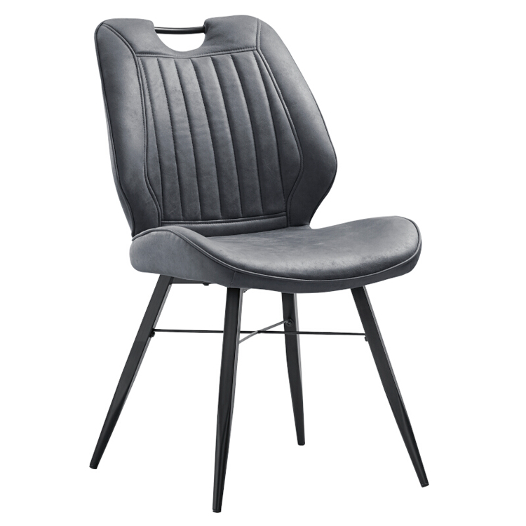upholstered dining chair high back comfortable design metal legs