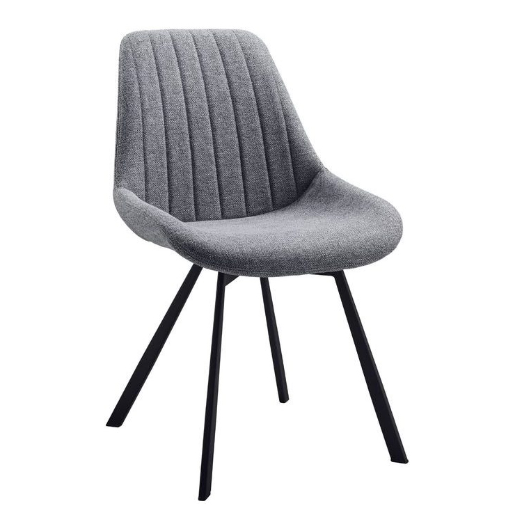 gray fabric dining chairs metal legs contemporary design