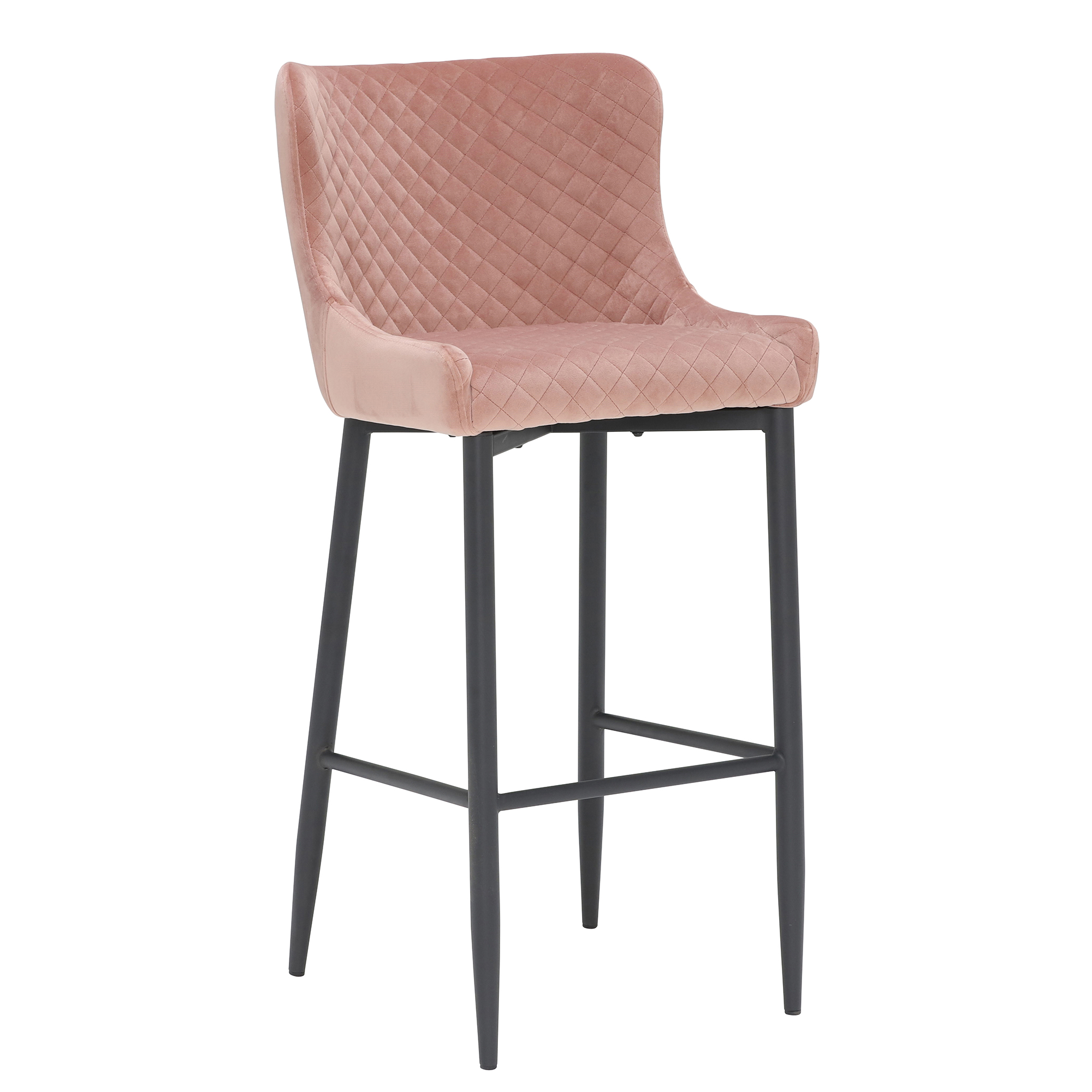 contemporary design puree fabric upholstered bar stool