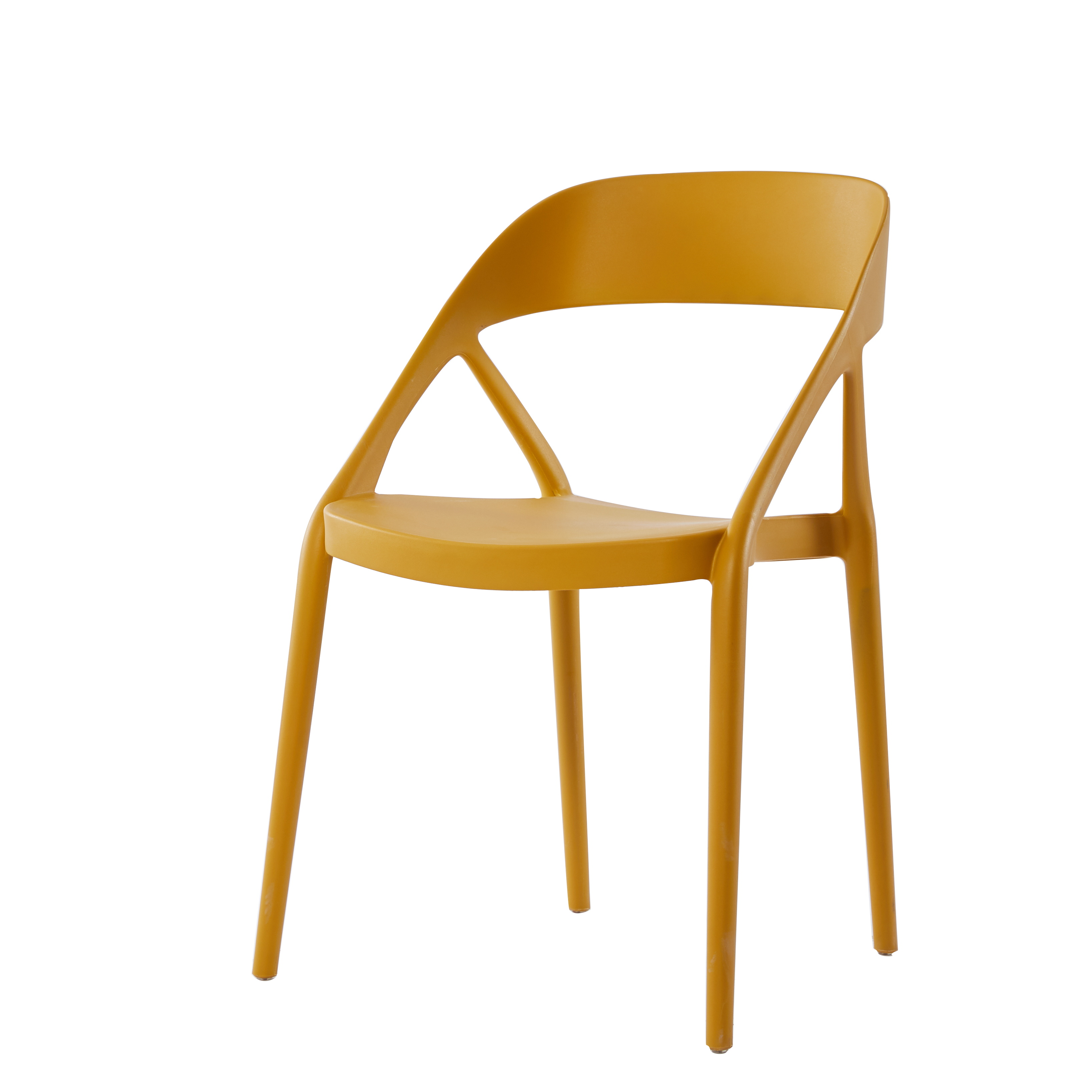 scandinavian dining chair high back armrest
