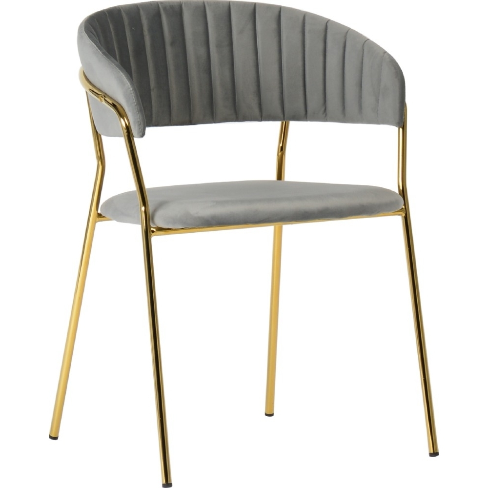 gray velvet dining chairs with golden metal legs