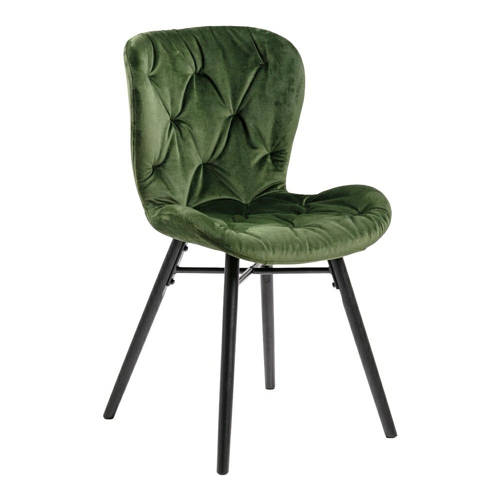green fabric dining chairs new design backrest metal legs