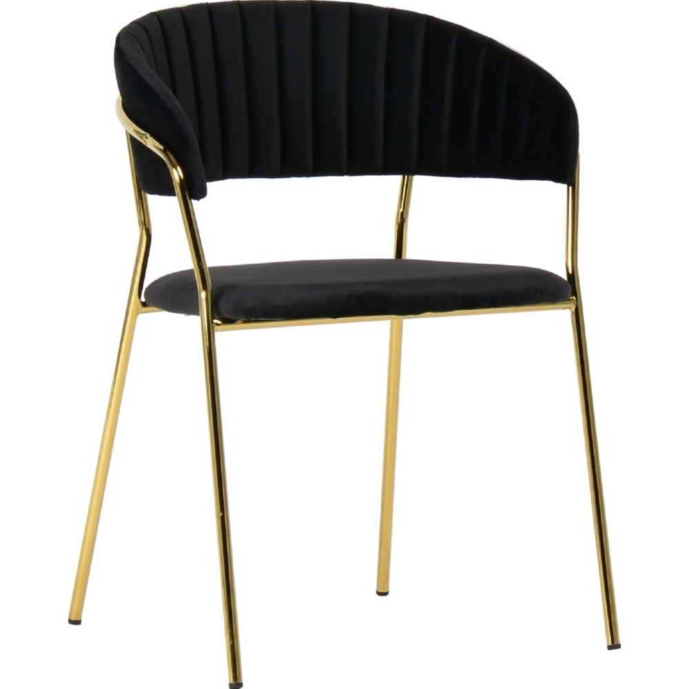black velvet dining chairs with golden metal legs