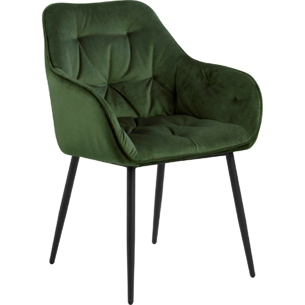 forest green fabric dining chair contemporary design high back metal legs