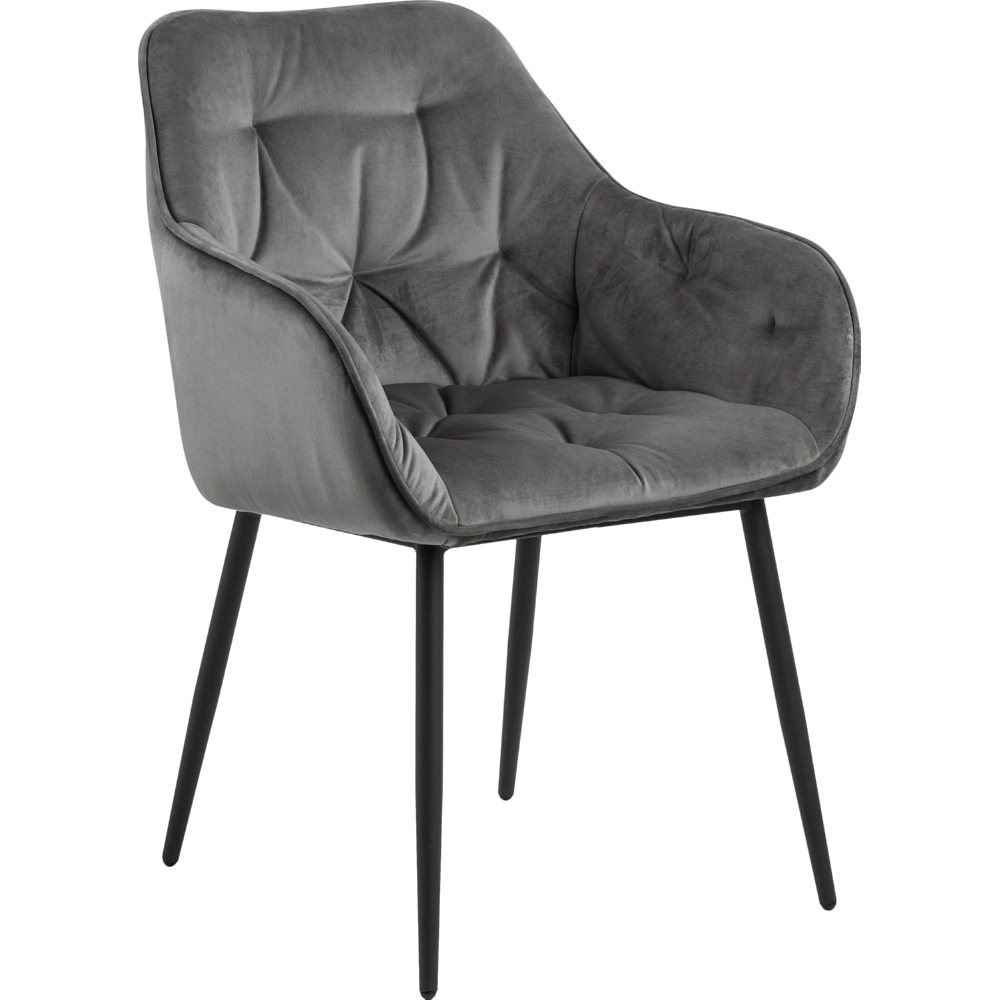 grey fabric dining chair contemporary design high back metal legs