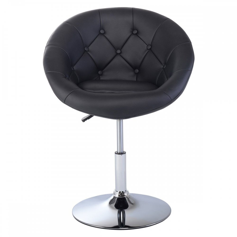 Awe Inspiring Pu Leather Adjustable Modern Swivel Round Accent Chair Gmtry Best Dining Table And Chair Ideas Images Gmtryco