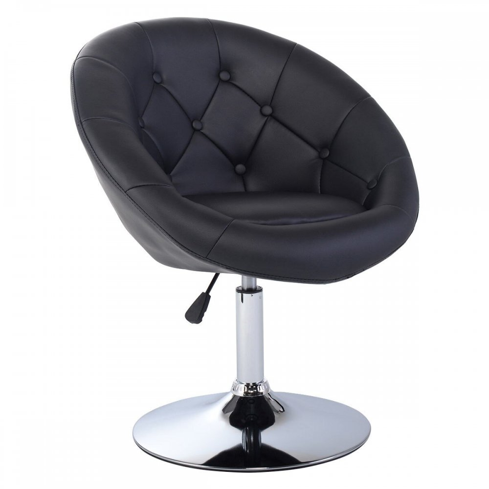 Astounding Pu Leather Adjustable Modern Swivel Round Accent Chair Gmtry Best Dining Table And Chair Ideas Images Gmtryco