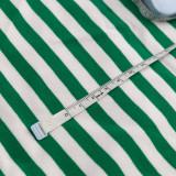 GREEN AND WHITE 1X1 CM STRIPE