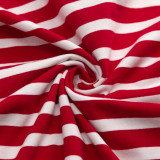 RED & WHITE THICK AND THIN STRIPE