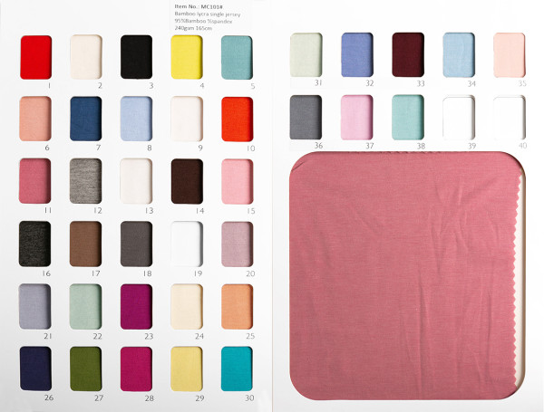 WHOLESALE BAMBOO SWATCH BOOK - ONLY SHIP WITH FABRICS