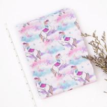 unicorn -1 yard Cotton woven- digital printed