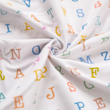 Words and stripe -Cotton lycra