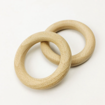 wooden ring teething ring natural wood ring