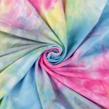 220G Cotton Lycra Tie-Dye Fabric