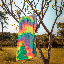 260G Yoga Tie-Dye Poly Fabric