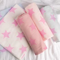 Swaddle Star printed - double gauze - 1/2 Yard