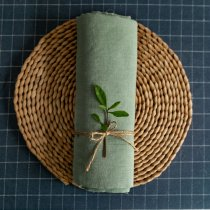 Dusty Mint -Washed Linen - 1/2 Yard