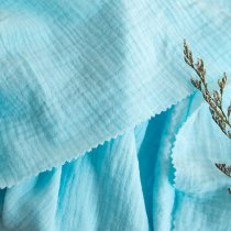 Aqua Blue - Double gauze/Muslin -1/2 Yard