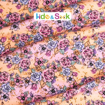 floral-Cotton lycra Jersey or Quilting Cotton-1/2 Yard