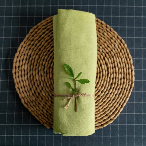 Grass - washed Linen - 1/2 Yard