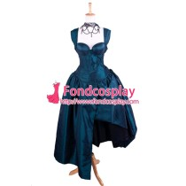 O Dress The Story Of O With Bra Gothic Punk Taffeta Dress Cosplay Costume Tailor-Made[G1354]