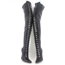 French Pleaser Seduce Crossdresser Sissy Maid Thigh High Boots 12CM