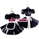 French Lockable Sissy Maid Pvc Dress Uniform Cosplay Costume Tailor-Made[G1654]