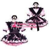 French Sissy Maid Satin Dress Lockable Uniform Cosplay Costume Tailor-Made[G2192]