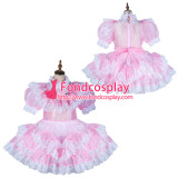 French Sissy Maid Satin Dress Lockable Uniform Cosplay Costume Tailor-Made[G2153]