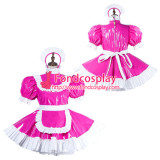 French Sissy Maid Pvc Dress Lockable Uniform Cosplay Costume Tailor-Made[G2185]