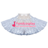 French clear PVC petticoat underskirt sissy maid skirt tailor-made [G3909]