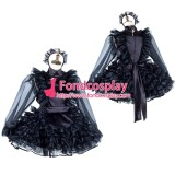 French Lockable Sissy Maid Satin-Organza Dress Uniform Cosplay Costume Tailor-Made[G2013]