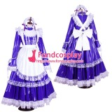 French Lockable Sissy Maid Pvc Vinyl Long Dress Uniform Cosplay Costume Tailor-Made[G1802]