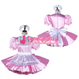 French Sissy Maid Satin Dress Lockable Uniform Cosplay Costume Tailor-Made[G2198]
